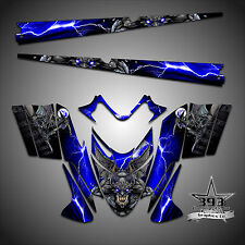 Polaris IQ RMK Shift Dragon Graphics Decal Wrap 05-12 with Tunnel Guardian Blue