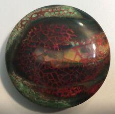 "Layered, blood-veined ""Ninja Turtle"" Dragon veins agate bead, incredible"