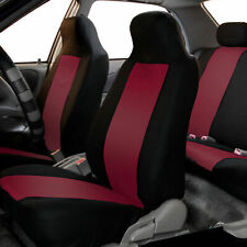 Highback Front Bucket Seat Covers Pair For Auto Car SUV Truck Burgundy