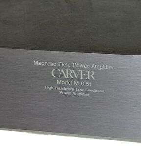 Carver M-0.5t Magnetic Field Power Amplifier w LED Indicators and Rack Handles