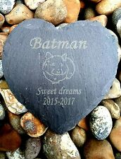 Personalised Engraved Slate Heart hamster Pet Memorial Grave Marker Plaque