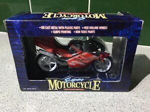 SUPER MOTORCYCLE DIECAST MODEL RED MOTOR BIKE 1:18? SCALE No. 245753