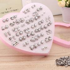 Lots MultiStyle White Pearl Beads Earrings Ear Stud Anti Allergy Christmas Gift