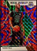 2019-20 Panini Mosaic Tacko Fall RC Blue Reactive REFRACTOR NBA Debut Prizm