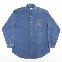Vintage LEE Blue Long Sleeve Casual Denim Worker Shirt Size Men's Medium
