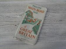 Vintage Philips Main Road Map Of Great Britain 16 Miles To Inch George Philip J