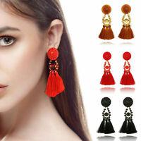 Fashion Jewelry Women Bohemian Long Fringe Boho Dangle Tassel Ear Stud Earrings