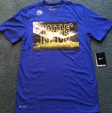 NWT Mens Nike 2XL Dri-Fit Blue/Yellow BATTLE BEGINS NOW Football Shirt XXL 2XL