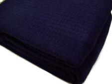 Lauren Ralph Lauren Woven Textured Weave Navy Dark Blue King Cotton Blanket New