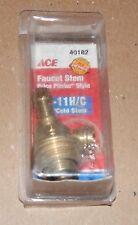 Faucet Stem NIB Ace Hardware 40182 Price Pfister Style Cold/Hot 3l-11H/C USA 95X