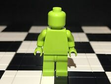 Lego Plain Lime Green Minifigure Head Torso Hands Legs / Monochrome