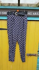 River Island spotty trousers size 10