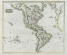 """""""America"""". North/South Americas. California Missions. THOMSON 1830 old map"""