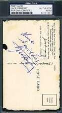 JACK DEMPSEY PSA DNA Coa Autograph Postcard Hand Signed Authentic