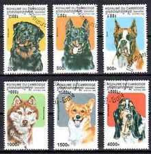 Chiens Cambodge (10) série complète de 6 timbres oblitérés