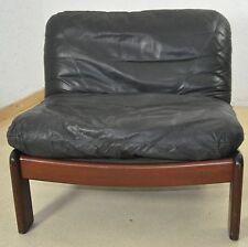 Ledersessel Easy Chair Relax DREIPUNKT Mid Century Leder Mahagoni/mahogany
