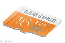 Samsung EVO 16GB MicroSD SDHC Memory Card 48MB/s 10yrs Warranty Sealed Pack Bill