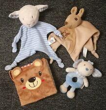 Baby Spielzeug Paket 2 x Schmusetuch, Stoffbuch, Stoffrassel TOP Zustand