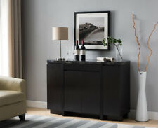 171915 Faux Black Marble Top Buffet Table