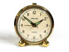 Reloj despertador BAMBINO BLESSING Alemán original Vintage funciona mecánico