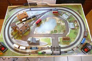 Hornby Thomas & Percy Railway layout + wagons, buildings. Twin tracks & sidings