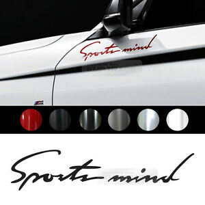 """Universal All Vehicle Sports Mind Racing Sports Decal Sticker 6 Color 7.8""""x1.7"""""""