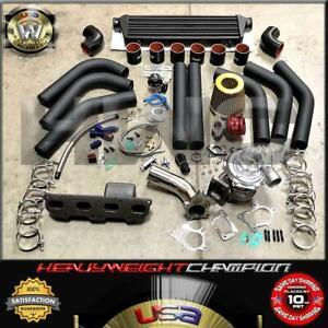 95-99 Eclipse Talon Neon 420A 2.0L Dohc Turbo Charger Kit T3T4+Intercooler+Bov