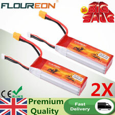 2PCS 3S 25C 11.1V 2200mAh LiPo Battery Pack XT60 Plug for RC Car Truck Evader UK