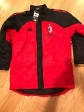 Adidas AC Milan Player Issue Winter Stadium Jacket Size L BNwT Rare 154281 Red