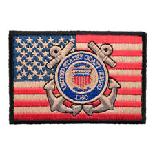 American Flag Coast Guard Patch, US Flag Patches
