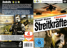 Streitkräfte, 4 Simulationen, PC-Spiel, 2012, DVD-Box/Neu