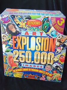 CD Nova Clip Art Explosion Windows b&w Color Platinum Edition 1997 250,000 Image