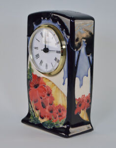 Moorcroft Forever England Clock CL1 RRP £425 1st Quality