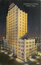 Abilene Texas~Interior Lights Shine in Darkness~Hotel Wooten~c1940 Postcard pc