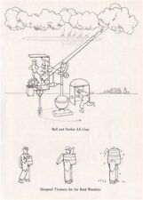 HEATH ROBINSON. Ball & Socket AA Gun; Shrapnel Trousers Air Raid Warden.WW2 1973