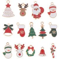 30PCS//Set Bulk Lots Enamel Mix Enamel Pendants Charms Beads Jewelry MakingBIUS
