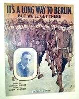 It's a Long Way to Berlin But We'll Get There World War One WWI Marines Cover