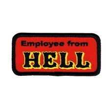 Employee From Hell Name Tag Novelty Embroidered Iron On Badge Applique Patch FD