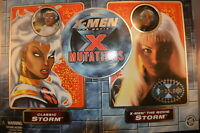 """X-MEN THE MOVIE """"X MUTATIONS""""  Brand New! 2 STORM ACTION FIGURES toy MARVEL film"""