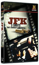 JFK: 3 SHOTS THAT CHANGED AMERICA - DVD - Region 1 - Sealed