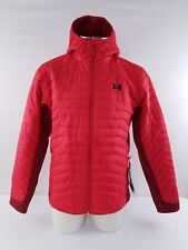 Under Armour NEW Coldgear Reactor Hooded Jacket Men's Red Large 1303060 $185
