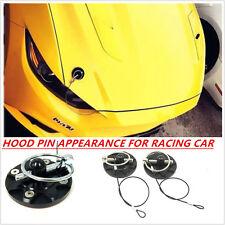 RACING CAR HOOD PIN APPEARANCE KIT Machine cover lock CNC BILLET ALUMINUM BLACK