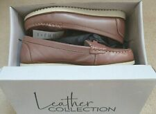 Rose Pink Leather Loafers Size 4 BNIB