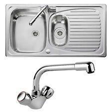 Leisure Sinks Euroline EL9502/TC sink and tap 1.5 bowl Stainless Steel