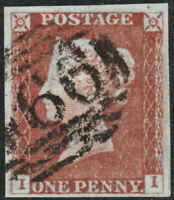 1841 SG8 1d RED BROWN PLATE 41 FINE/VERY FINE USED 4 MARGINS (II)