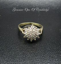 9ct Gold Diamond Cluster Ring 0.5ct Size K 3.1g