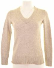 BANANA REPUBLIC Womens V-Neck Jumper Sweater Size 6 XS Grey Wool  KO04