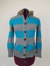 ROUTE 66 xl Stripe LS Front Button Hooded
