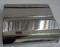 vintage  retro garner ware metal chrome organizer for foil, paper towel foil