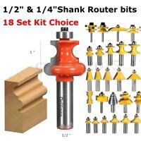 1/4'' 1/2'' Shank Flush Trim Cabinet Frame Wood Ogee Cutter Molding Router Bit
